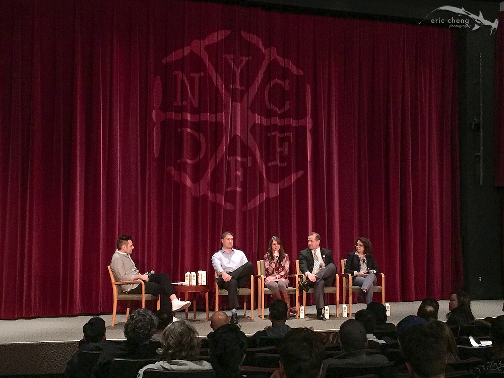 Panel: Integrating Drones into a Production Workflow with Maria Stefanopoulis, Mark Connot, Lori Landew, Brian Walk. New York City Drone Film Festival 2016.