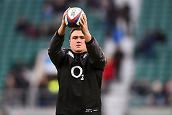 November 25, 2017 - London, England, United Kingdom - England's Jamie George gets his eye in during Old Mutual Wealth Series between England against Samoa at Twickenham stadium , London on 25 Nov 2017  (Credit Image: © Kieran Galvin/NurPhoto via ZUMA Press)