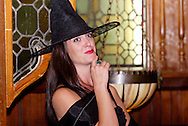 """Elena Monigold during Mayhem & Mystery's production of """"Costume Carousing"""" at the Spaghetti Warehouse in downtown Dayton, Monday, September 12, 2011."""