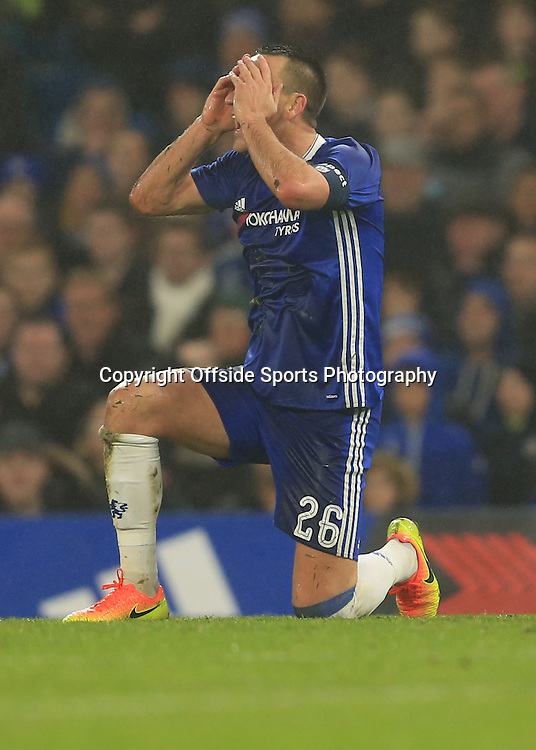 8 January 2017 - The FA Cup (Third Round) - Chelsea v Peterborough United - John Terry of Chelsea reacts before being sent off - Photo: Marc Atkins / Offside.