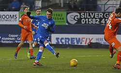 Callum Cooke of Peterborough United shoots at goal - Mandatory by-line: Joe Dent/JMP - 19/01/2019 - FOOTBALL - Kenilworth Road - Luton, England - Luton Town v Peterborough United - Sky Bet League One