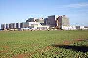 Decommissioned Magnox nuclear power station, Bradwell on Sea, Essex, England