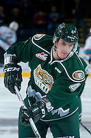 KELOWNA, CANADA - DECEMBER 30: Brycen Martin #4 of Everett Silvertips warms up against the Kelowna Rockets on December 30, 2015 at Prospera Place in Kelowna, British Columbia, Canada.  (Photo by Marissa Baecker/Shoot the Breeze)  *** Local Caption *** Brycen Martin;