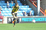 Burton Albion midfielder Callum Reilly (7) clears ball  during the Sky Bet League 1 match between Scunthorpe United and Burton Albion at Glanford Park, Scunthorpe, England on 9 April 2016. Photo by Ian Lyall.