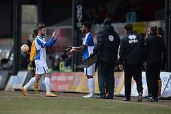 Matt Taylor of Bristol Rovers is replaced by Ellis Harrison of Bristol Rovers - Mandatory byline: Alex James/JMP - 19/03/2016 - FOOTBALL - Rodney Parade - Newport, England - Newport County v Bristol Rovers - Sky Bet League Two