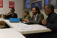 "The Hyde Park 4th of July Parade Committee held its first planning meeting Wednesday evening, March 29th, 2017 at the Hyde Park Neighborhood Club located at 5480 S. Kenwood Ave.<br /> <br /> 1737 – Committee members, Timika Hoffman-Zoller of the Elm Park Advisory Council, Stephanie Franklin of the Nichols Park Advisory Council, Adam Jordan Marks of the Hyde Park Chamber of Commerce and Executive Director for the Hyde Park Chamber of Commerce, Wallace Goode Sr.<br /> <br /> Please 'Like' ""Spencer Bibbs Photography"" on Facebook.<br /> <br /> All rights to this photo are owned by Spencer Bibbs of Spencer Bibbs Photography and may only be used in any way shape or form, whole or in part with written permission by the owner of the photo, Spencer Bibbs.<br /> <br /> For all of your photography needs, please contact Spencer Bibbs at 773-895-4744. I can also be reached in the following ways:<br /> <br /> Website – www.spbdigitalconcepts.photoshelter.com<br /> <br /> Text - Text ""Spencer Bibbs"" to 72727<br /> <br /> Email – spencerbibbsphotography@yahoo.com"