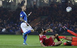 Marcus Maddison of Peterborough United scores his sides opening goal of the game - Mandatory by-line: Joe Dent/JMP - 23/10/2019 - FOOTBALL - Weston Homes Stadium - Peterborough, England - Peterborough United v Accrington Stanley - Sky Bet League One