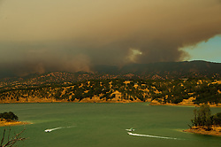 The County Fire burns west toward Lake Berryessa and has burned more than 22,000 acres without containment on Sunday, July 1, 2018 in Capay Valley, CA, USA. Photo by Paul Kitagaki Jr./Sacramento Bee/TNS/ABACAPRESS.COM