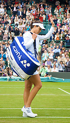 LONDON, ENGLAND - Friday, June 27, 2008: A dejected Ana Ivanovic (SRB) walks off court after her 3rd round defeat on day five of the Wimbledon Lawn Tennis Championships at the All England Lawn Tennis and Croquet Club. (Photo by David Rawcliffe/Propaganda)