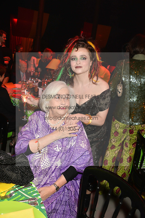 Left to right, ELENA BONHAM-CARTER and her daughter HELENA BONHAM-CARTER at A Night of Reggae in aid of Save The Children held at The Roundhouse, Chalk Farm Road, London NW1 on 12th March 2014.