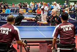 Mitar PALIKUCA and Darko BABIC of Serbia during Team events at Day 4 of 15th Slovenia Open - Thermana Lasko 2018 Table Tennis for the Disabled, on May 12, 2018, in Dvorana Tri Lilije, Lasko, Slovenia. Photo by Vid Ponikvar / Sportida