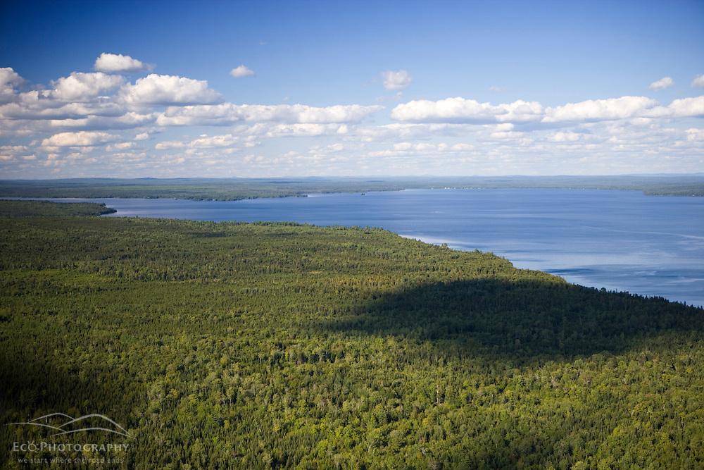 Northwestern shoreline of Moosehead Lake Maine USA