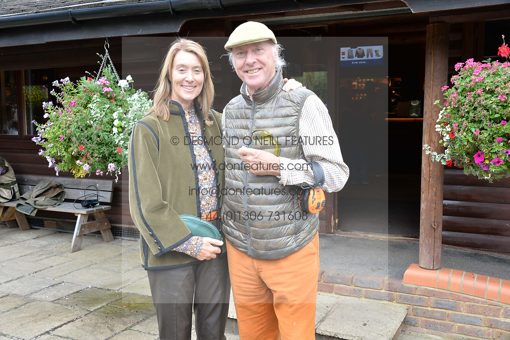 Lady Dashwood and Boudewijn van Heuveln at Young Guns raising money for the fight against breast cancer trough Cancer Research UK held at EJ Churchill Shooting School followed by lunch at West Wycombe Park, England. 23 September 2017.