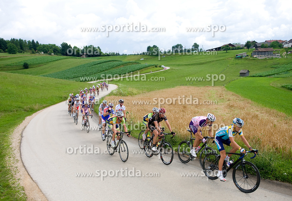 Jani Brajkovic leading the Peloton at Slovenian National Championships in Road cycling, 178 km, on June 28 2009, in Mirna Pec, Slovenia. (Photo by Vid Ponikvar / Sportida)