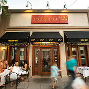 August 18, 2012 - New Rochelle, NY : Posto 22, located at 22 Division Street in New Rochelle, NY, serves gourmet Italian cuisine. Pictured here, customers dine al fresco on Saturday evening. CREDIT: Karsten Moran for The New York Times.