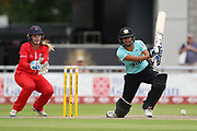 Sophia Dunkley of the Surrey Stars during the Women's Cricket Super League match between Lancashire Thunder and Surrey Stars at the Emirates, Old Trafford, Manchester, United Kingdom on 7 August 2018.