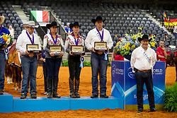 Team Belgium, Silver Medal, Verschueren Dries, Baeck, Poelms Ann, Fonck Bezrnard, Welter Dany<br /> World Equestrian Games - Tryon 2018<br /> © Hippo Foto - Dirk Caremans<br /> 12/09/2018