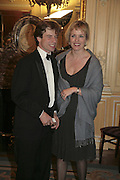 Mr. and Mrs. James Osborne, Cartier Racing Awards , Four Seasons Hotel, Hamilton Place, London, W1, 15 November 2006. ONE TIME USE ONLY - DO NOT ARCHIVE  © Copyright Photograph by Dafydd Jones 66 Stockwell Park Rd. London SW9 0DA Tel 020 7733 0108 www.dafjones.com