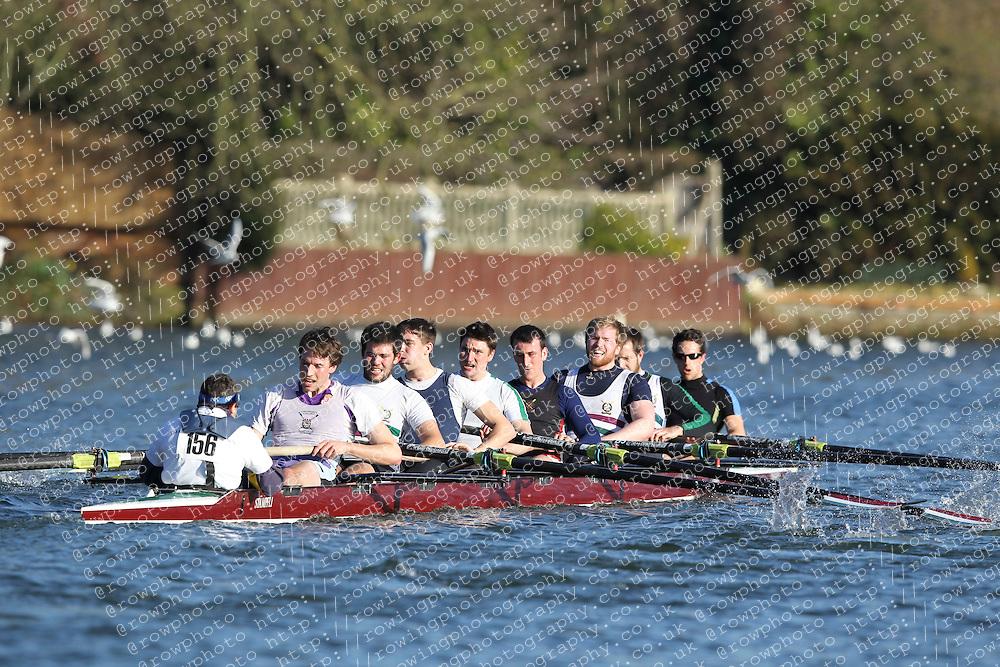 2012.02.25 Reading University Head 2012. The River Thames. Division 2. Thames Tradesmen Rowing Club Sen 8+