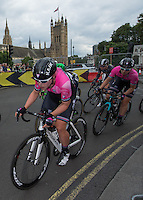 LONDON UK 30TH JULY 2016:  Parliament Square. The Prudential RideLondon Classique elite womens' race. Prudential RideLondon in London 30th July 2016<br /> <br /> Photo: Bob Martin/Silverhub for Prudential RideLondon<br /> <br /> Prudential RideLondon is the world's greatest festival of cycling, involving 95,000+ cyclists – from Olympic champions to a free family fun ride - riding in events over closed roads in London and Surrey over the weekend of 29th to 31st July 2016. <br /> <br /> See www.PrudentialRideLondon.co.uk for more.<br /> <br /> For further information: media@londonmarathonevents.co.uk