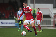 Swindon Town defender Bradley Barry during the Sky Bet League 1 match between Swindon Town and Coventry City at the County Ground, Swindon, England on 24 October 2015. Photo by Jemma Phillips.