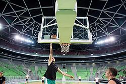 Gezim Morina during public training session of Slovenian National Basketball team, on August 1, 2016 in Arena Stozice, Ljubljana, Slovenia. Photo by Vid Ponikvar / Sportida