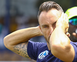 July 22, 2018 - Colombo, Sri Lanka - South African cricket captain Faf Du Plessis  reacts after the 2-0 Test cricket team cricket team during the 4th day's play in the 2nd test cricket match between Sri Lanka and South Africa at SSC International Cricket ground, Colombo, Sri Lanka on Monday  23 July 2018  (Credit Image: © Tharaka Basnayaka/NurPhoto via ZUMA Press)