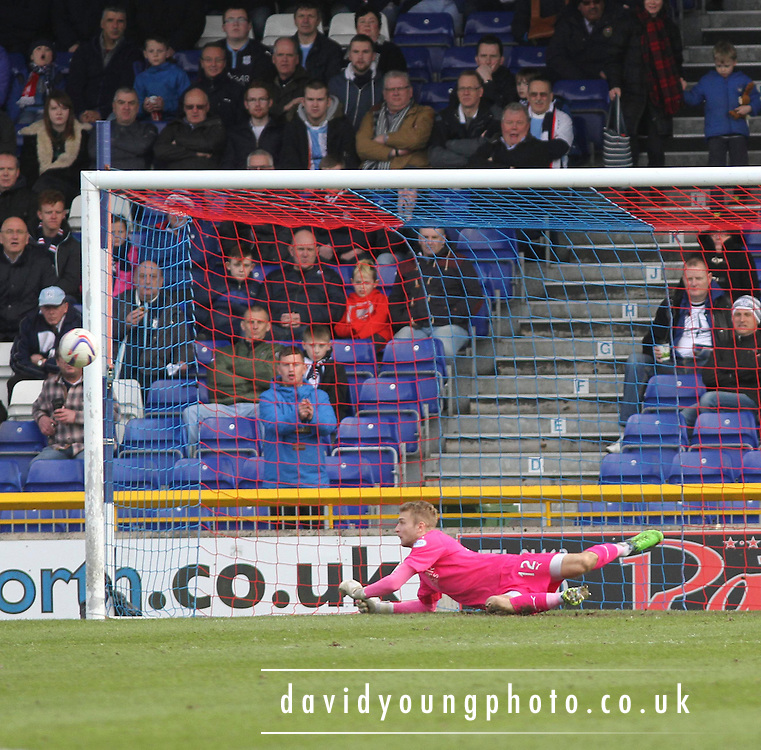 Dundee's Scott Bain pulls off a superb save to deny Inverness Caley Thistle's Greg Tansey - Dundee Saturday Morning Football League<br /> <br />  - &copy; David Young - www.davidyoungphoto.co.uk - email: davidyoungphoto@gmail.com