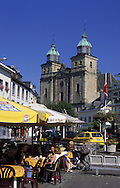 BEL, Belgium, Eastbelgium, Malmedy, the Place Albert I. and the church St. Peter and Paul.....BEL, Belgien, Ostbelgien, Malmedy, Place Albert I., Kirche St. Peter und Paul....... ..