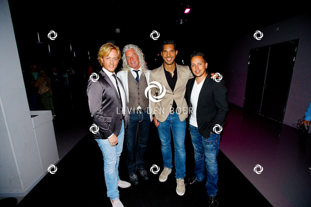 AMSTERDAM - In de Ziggo Dome is de eerste officiële Jack Daniel's bar in Europa geopend. Met op de foto  LA The Voices. Met de huidige leden Remko Harms, Richy Brown, Roy van den Akker en Peter William Strykes. FOTO LEVIN DEN BOER - PERSFOTO.NU