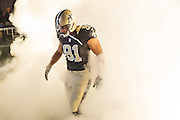 NEW ORLEANS, LA - NOVEMBER 8:  Kasim Edebali #91 of the New Orleans Saints runs onto the field before a game against the Tennessee Titans at Mercedes-Benz Superdome on November 8, 2015 in New Orleans, Louisiana.  The Titans defeated the Saints in overtime 34-28.  (Photo by Wesley Hitt/Getty Images) *** Local Caption *** Kasim Edebali