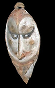 Facade mask hung in front of men's houses to ward off evil and disease. Sepik region of Papua New Guinea. Early 20th century