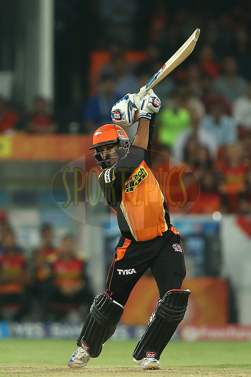 Deepak Hooda of Sunrisers Hyderabad drives a delivery through the covers to the boundary during match 42 of the Vivo IPL 2016 (Indian Premier League) between the Sunrisers Hyderabad and the Delhi Daredevils held at the Rajiv Gandhi Intl. Cricket Stadium, Hyderabad on the 12th May 2016<br /> <br /> Photo by Shaun Roy / IPL/ SPORTZPICS