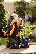 Denver Botanic Gardens. Laura Johnson and her daughter Abi (18mo)
