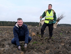 **All images embargoed until 00:01 6 February**<br /> <br /> Derek Mackay Tree Planting, 5 February 2020<br /> <br /> Finance Secretary Derek Mackay visited Thornton Wood near Kelty in Fife ahead of publishing the Scottish Budget on Thursday 6 February.<br /> <br /> Tackling the global climate emergency will be at the heart of this week's Budget.<br /> <br /> During the visit, Mr Mackay planted a tree as part of the Scottish Government's commitment to support forestry creation through planting 12,000 hectares of woodland this year. This will be supported by an additional £5 million investment.<br /> <br /> The site is run by Forestry and Land Scotland, and is a former opencast mining site which is now being restored to forestry.<br /> <br /> Pictured: Finance Secretary Derek Mackay and James Hand<br /> <br /> Alex Todd | Edinburgh Elite media