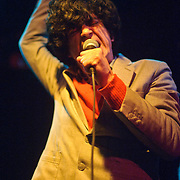 WASHINGTON, DC - April 12th, 2012 -  Chain and the Gang, the latest musical act featuring Ian Svenonius (formerly of The Make-Up and Nation of Ulysses) perform at the Black Cat in Washington, D.C. The group released their sophomore album,  Musics Not For Everyone, in February on K Records. (Photo by Kyle Gustafson/For The Washington Post)