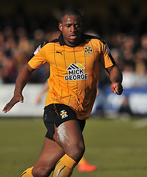 Cambridge United v Plymouth Argyle, Sky Bet League Two Abbey Stadium, Saturday 4th February 2017. <br /> Score 0-1 (SARCEVIC) UCHE IKPEAZU CAMBRIDGE UNITED,
