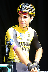 Wout Van Aert (BEL) Team Jumbo-Visma at sign on before the 2019 E3 Harelbeke Binck Bank Classic 2019 running 203.9km from Harelbeke to Harelbeke, Belgium. 29th March 2019.<br /> Picture: Eoin Clarke | Cyclefile<br /> <br /> All photos usage must carry mandatory copyright credit (© Cyclefile | Eoin Clarke)