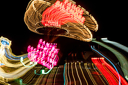 """Tahoe Lights 1"" - Photograph taken at the Lake Tahoe northern state line casinos. The look was achieved by shooting a handheld long exposure and zooming the lens during the exposure."