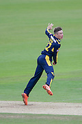 Mason Crane of Hampshire bowling during the Royal London One Day Cup match between Hampshire County Cricket Club and Somerset County Cricket Club at the Ageas Bowl, Southampton, United Kingdom on 2 August 2016. Photo by David Vokes.