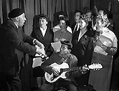 "1961 - Rehearsal for ""Sceal ar Phadraig"" new play at Damer Hall"