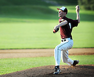 Falls pitcher Cole Ingelido throws a pitch against Northampton in the 5th inning at Cairn University Tuesday July 14, 2015 in Langhorne, Pennsylvania.  (Photo by William Thomas Cain)