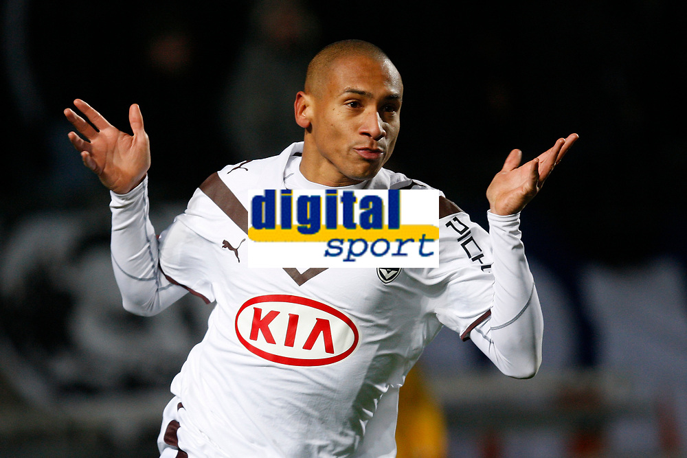 FOOTBALL - FRENCH CHAMPIONSHIP 2009/2010  - L1 - MONTPELLIER HSC v GIRONDINS BORDEAUX - 16/12/2009 - PHOTO PHILIPPE LAURENSON / DPPI - JOY JUSSIE (BOR) AFTER HIS GOAL