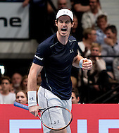 Andy Murray during the final of the Erste Bank Open at Wiener Stadthalle, Vienna, Austria.<br /> Picture by EXPA Pictures/Focus Images Ltd 07814482222<br /> 30/10/2016<br /> *** UK &amp; IRELAND ONLY ***<br /> EXPA-PUC-161030-0359.jpg