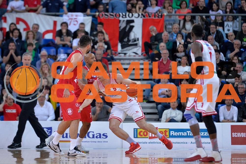 Giulio Gazzotti<br /> Consultinvest Victoria Libertas Pesaro - EA7 Emporio Armani Olimpia MIlano<br /> Lega Basket Serie A 2016/2017<br /> Pesaro, 30/04/2017<br /> Foto M.Ceretti / Ciamillo - Castoria