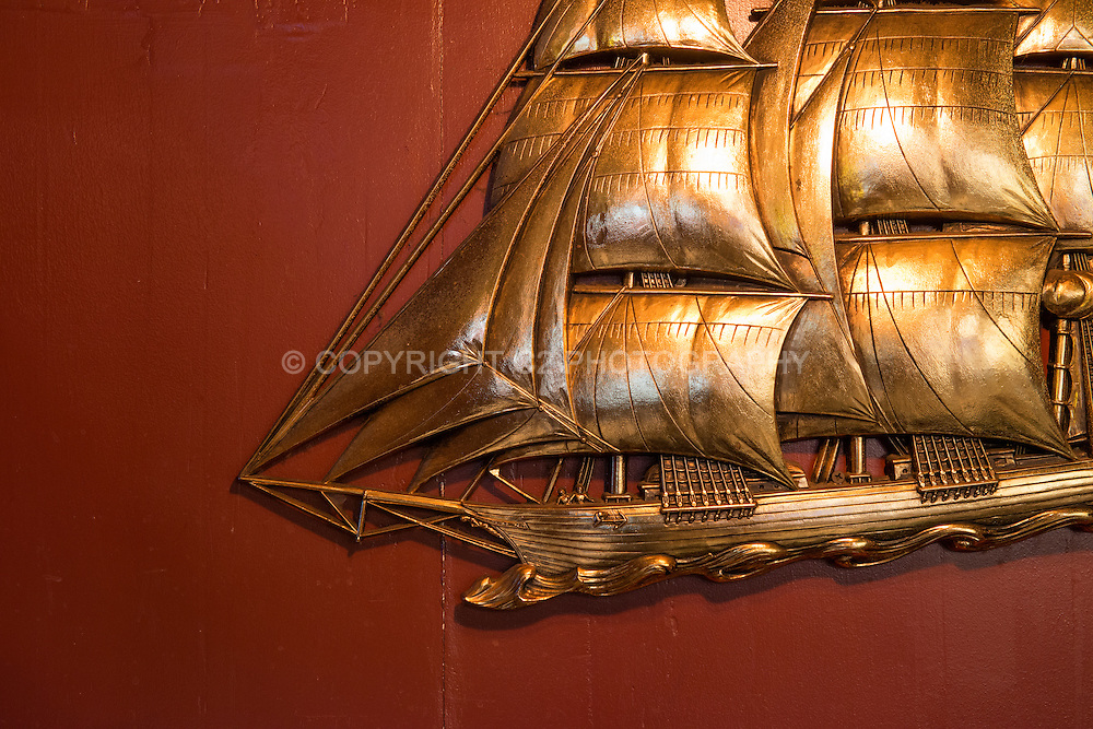 The touches of wall decor at The Admiral reinforce the nautical theme.