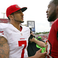San Francisco 49ers quarterback Colin Kaepernick (7) during an NFL football game between the San Francisco 49ers  and the Tampa Bay Buccaneers on Sunday, December 15, 2013 at Raymond James Stadium in Tampa, Florida.. (Photo/Alex Menendez)