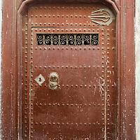 Traditional wooden door, medina of Tetouan, Morocco