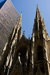 New York City, New York: St. Patrick's Cathedral  .Photo #: ny277-14755  .Photo copyright Lee Foster, www.fostertravel.com, lee@fostertravel.com, 510-549-2202.