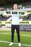 Nathan McGinley signs signes for Forest Green Rovers at the New Lawn, Forest Green, United Kingdom on 29 August 2018. Picture by Shane Healey.